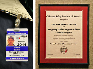 Keep your family and home safe with annual chimney inspections by a certified chimney sweep.