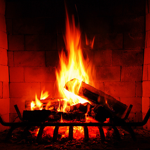 crackling fire