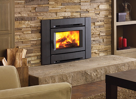 Wood stoves pellet stoves wood gas fireplace inserts for Modern wood burning insert