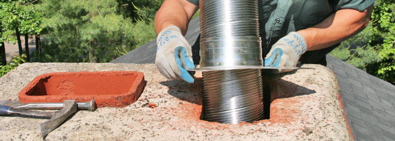 install chimney liner and chimney cap for fireplace insert in east hampton ct