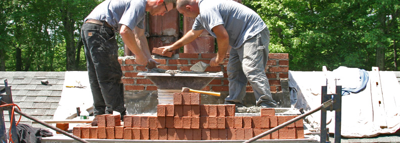 new chimney rebuild in coventry includes masonry work by chimney sweeps